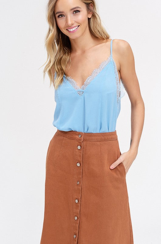 Chiffon V-Neck Blouse - Trunk Up