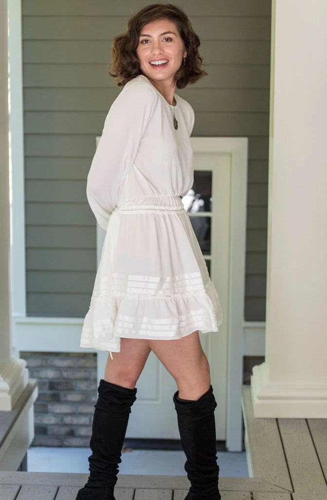 Sweet Ruffle Hem Dress
