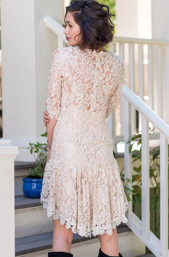 Hi-Low Lace Dress