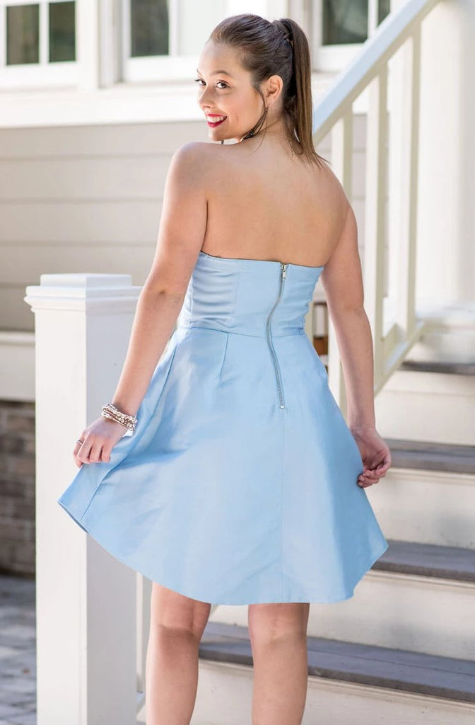 Baby Blue Strapless Dress
