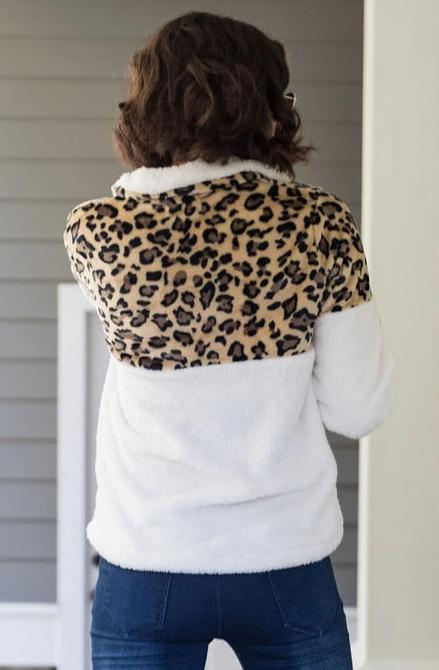 Sherpa Leopard Pullover