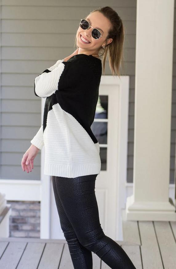 B&W Knit Sweater