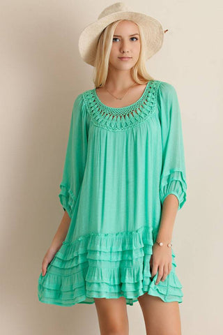 Sweet Mint Dress - Trunk Up