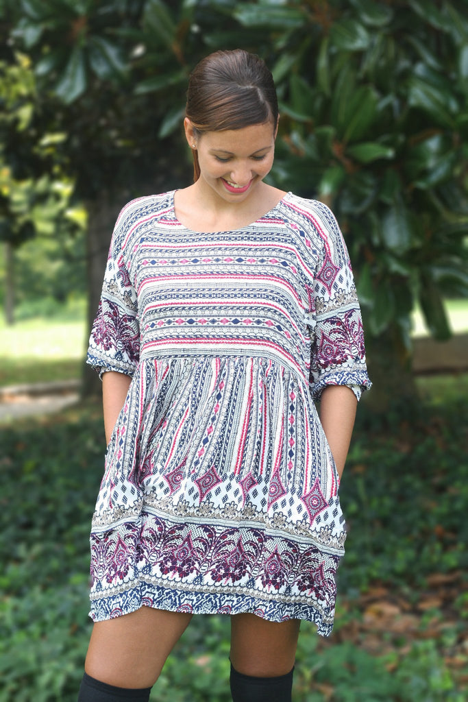 Print Pocket Dress - Trunk Up