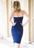 Strapless Navy Dress - Trunk Up