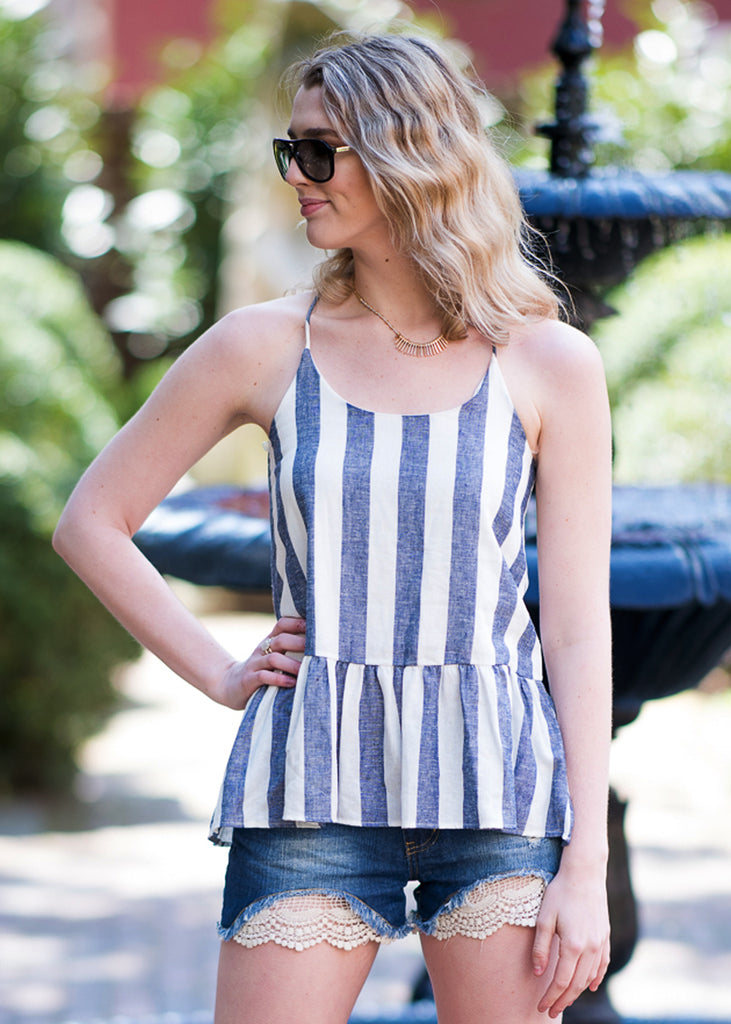 Stripe it Sweet Top - Trunk Up