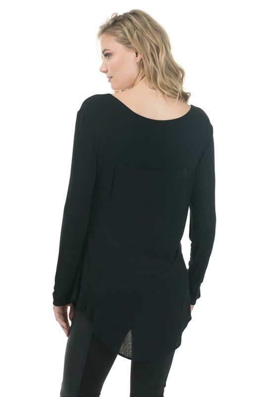 Black Surplice Top - Trunk Up