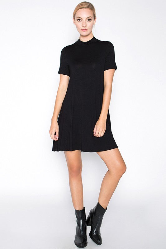 Black Turtleneck Dress - Trunk Up