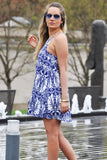 Blue Floral Dress - Trunk Up - 3