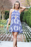Blue Floral Dress - Trunk Up - 1