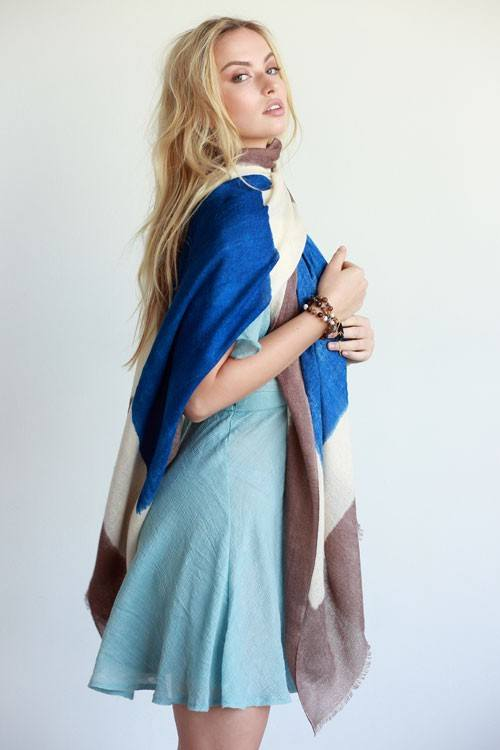 Artsy Blue Scarf - Trunk Up