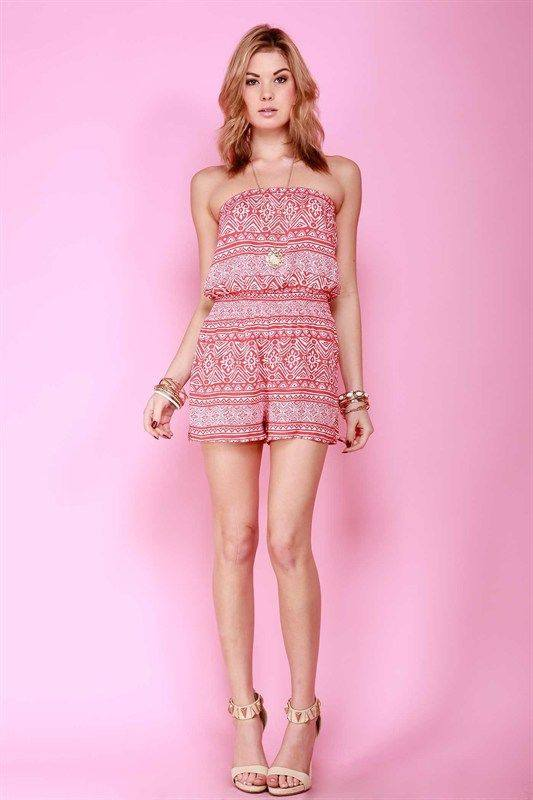 Coral Romper - Trunk Up