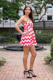 Red Chevron Dress - Trunk Up - 4