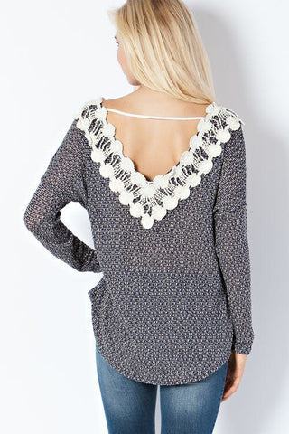 Blue Crochet Sweater - Trunk Up - 1