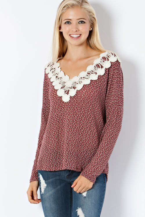Red Crochet Sweater - Trunk Up - 1