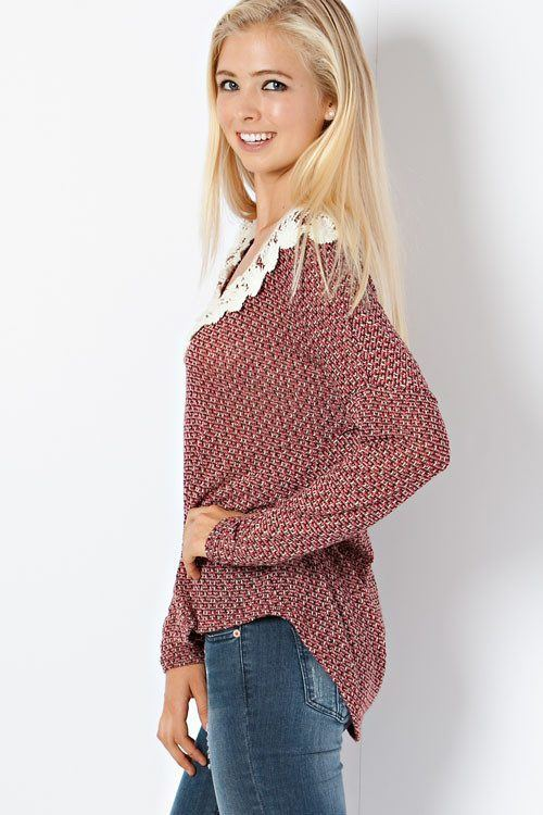 Red Crochet Sweater - Trunk Up