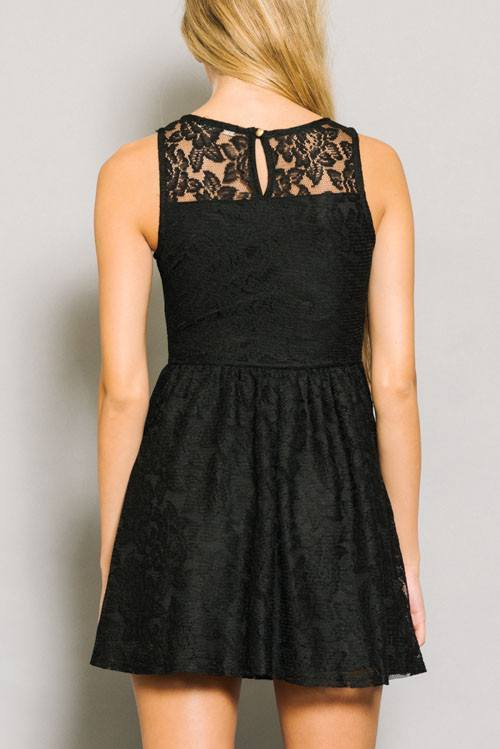 Mini Lace Sweetheart Dress - Trunk Up