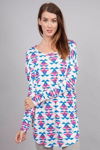 Preppy Aztec Tunic Trunk Up