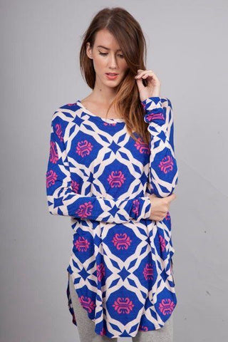 Preppy Diamond Tunic Trunk Up