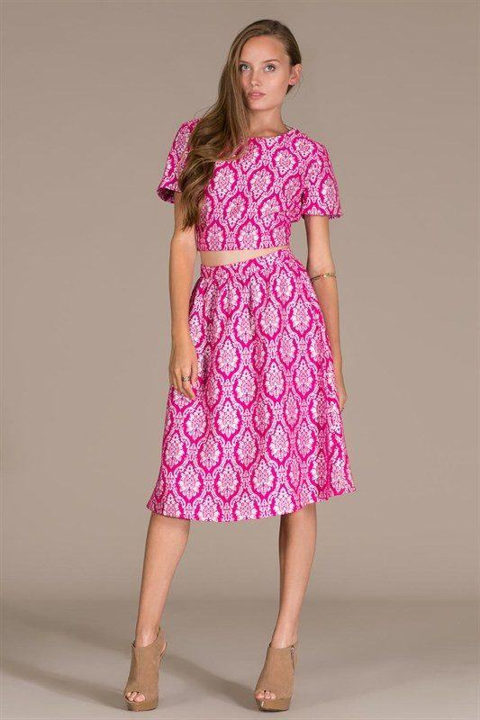 Royal Fuchsia Skirt Trunk Up