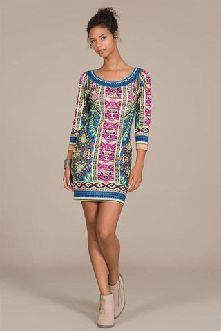 Colorful Scuba Dress - Trunk Up