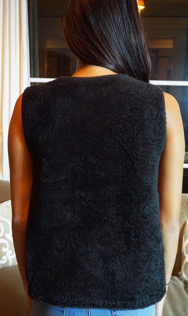 Soft Black Sleevless Fleece - Trunk Up