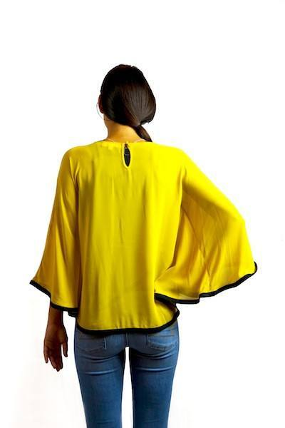Yellow & Black Poncho - Trunk Up