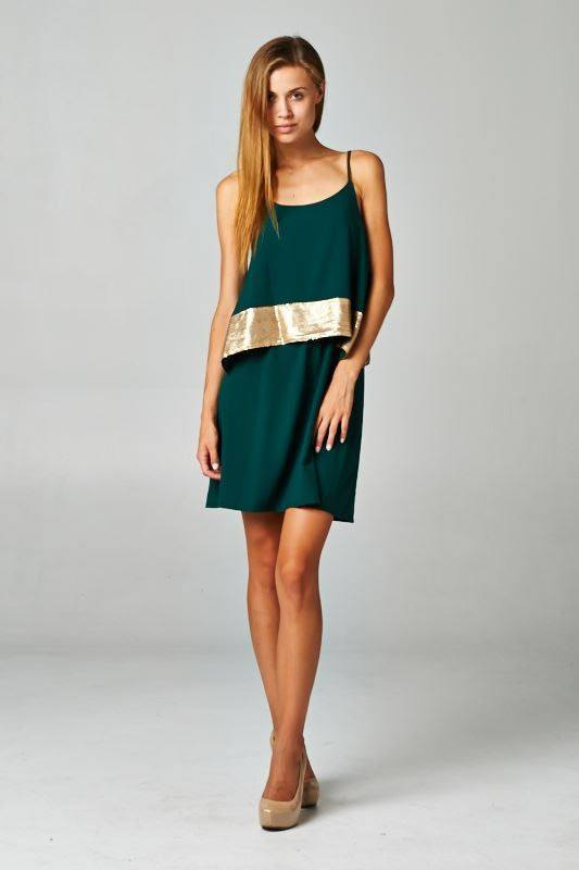 Emerald Sequin Dress - Trunk Up