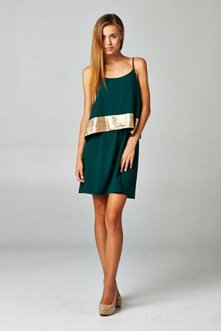 Emerald Sequin Dress Trunk Up