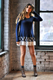 Navy Plaid Dress - Trunk Up - 2