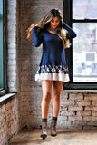 Navy Plaid Dress - Trunk Up - 3