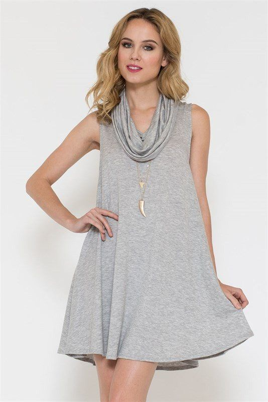 Gray Sleeveless Dress Trunk Up