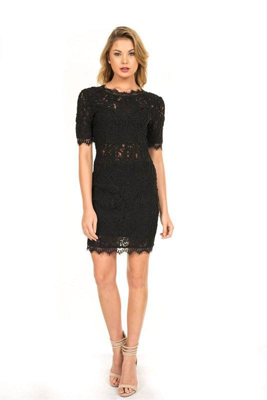 Low Back Lace Dress (Petite) - Trunk Up