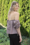 Mauve Off Shoulder Top - Trunk Up