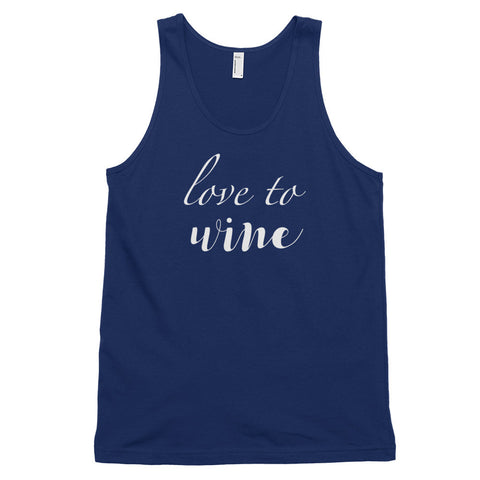 Love to Wine Tank - TU Tees - Trunk Up