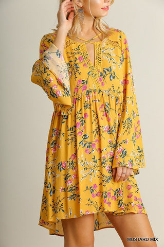 Mustard Boho Dress Trunk Up