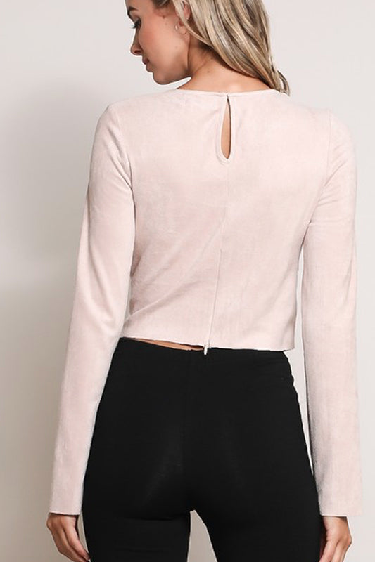Blush Suede Top - Trunk Up