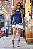 Navy Plaid Dress - Trunk Up - 1
