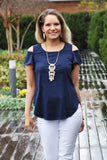 Navy Jane Top - Trunk Up