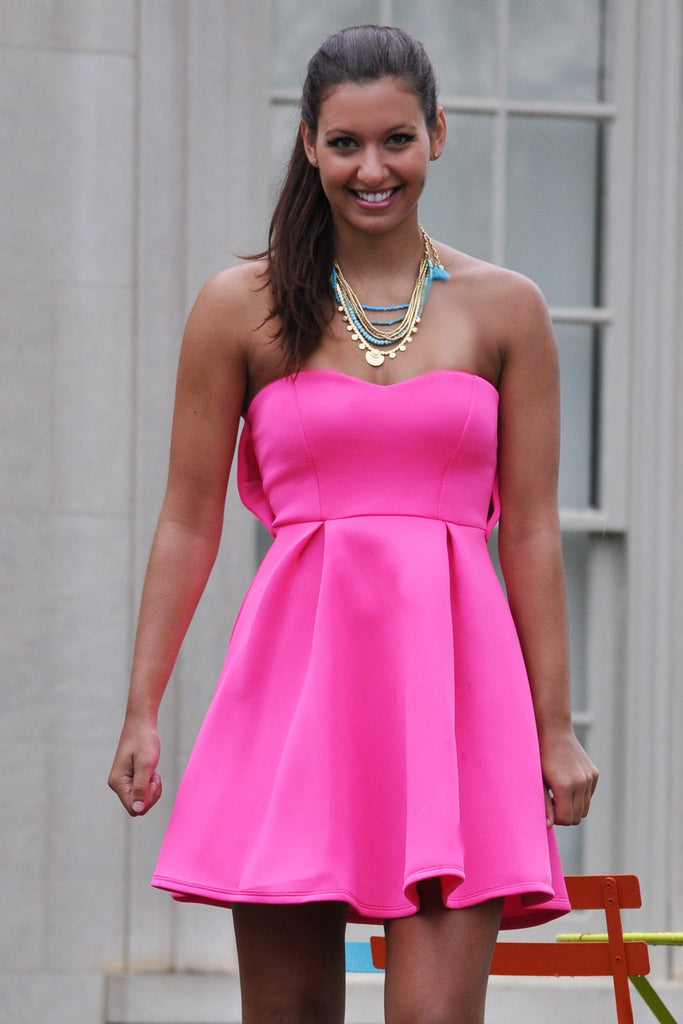 0a258b56 Pink Party Dress - Trunk Up. Images / 1 / 2 / 3 ...