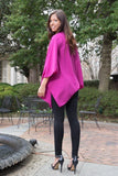 Purple Poncho Cardigan - Trunk Up