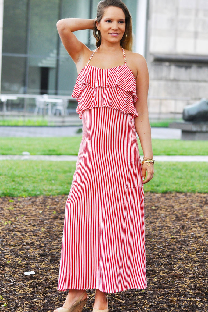Ruffle Top Maxi Dress - Trunk Up