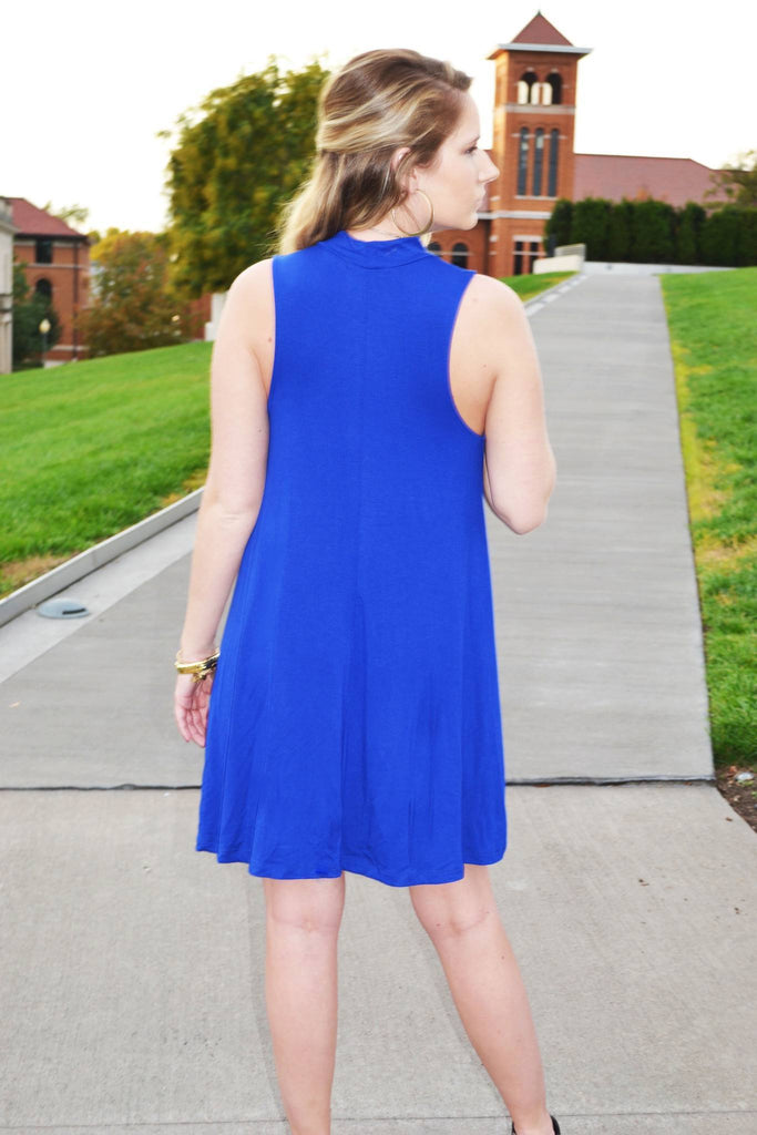 Royal Blue Dress - Trunk Up
