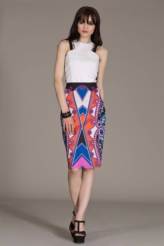 Tribal Print Skirt - Trunk Up