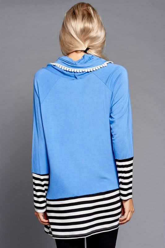 Striped Slate Turtleneck - Trunk Up