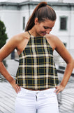Green Plaid Tank - Trunk Up - 1