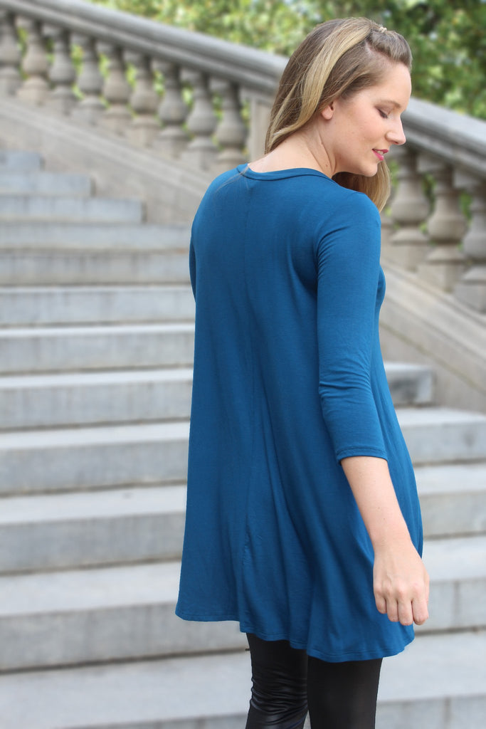 Such a Teal Tunic - Trunk Up