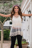 Sheer Boho Top Trunk Up