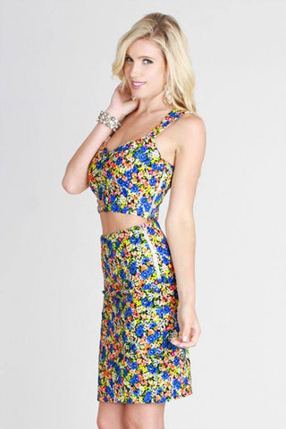 Floral Two-Piece Dress - Trunk Up