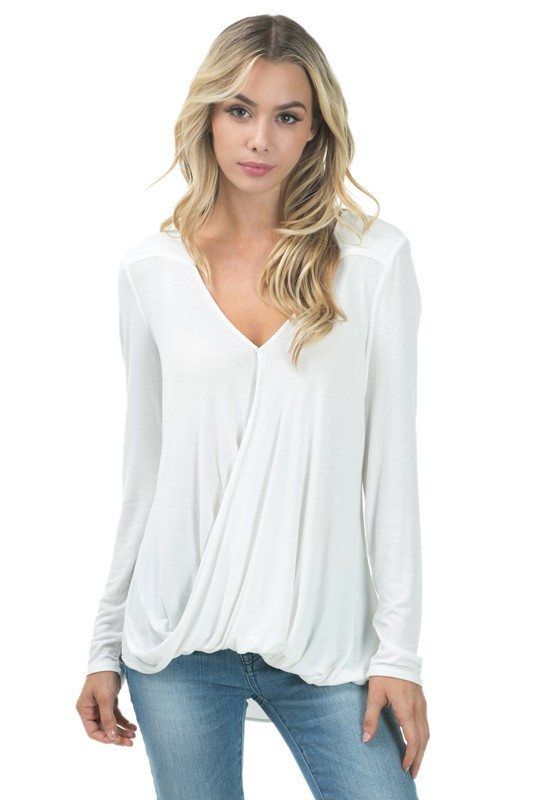 White Surplice Top - Trunk Up